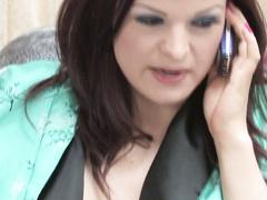 Stacked MILF seduces her teenage brunette neighbor